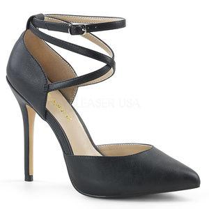 Shoes - Platform High Heel Shoes Criss Cross Ankle Strap